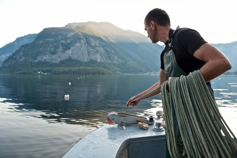 Die Netzfischer vom Hallstätter See